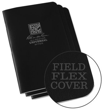 Rite in the Rain Field Flex Cover Notebook (3 pieces) 11,75cm x 17,5cm - Black