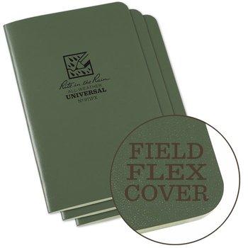 Rite in the Rain Field Flex Cover Notebook (3 pieces) 11,75cm x 17,5cm - Olive Drab