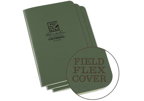 Rite in the Rain Field Flex Cover Notebook (3 stuks) 11,75cm X 17,5cm - Olive Drab