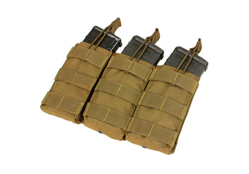 Condor MA27 Triple Open Top M4/M16 Mag Pouch - Coyote Brown