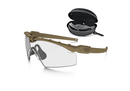 Oakley SI Ballistic M Frame 3.0 Bone mit Array Clear / Grey Gläser