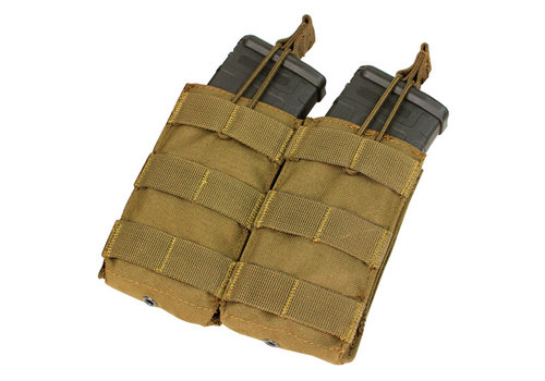 Condor MA19 Double Open -Top M4 Mag Pouch - Coyote Brown