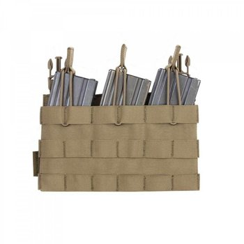 Warrior Removable Triple Molle Open Pouch for RPC - Coyote Tan