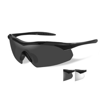 Wiley X WX Vapor Matte Black Frame/ Clear and Grey lenses