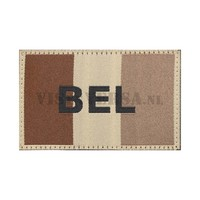 Belgierin Flagge 50 x 76mm - RAL7013  Desert