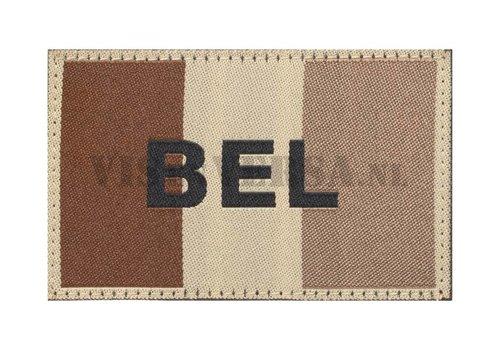 Claw Gear Belgische Vlag 50 X 76mm - Desert