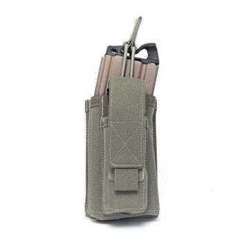 Warrior Single Open 5.56 Mag & 9mm pouch - Ranger Green