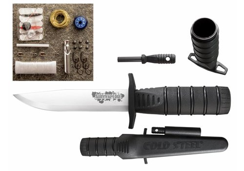 Cold Steel Survival Edge Black Clam  CS80PHBZ