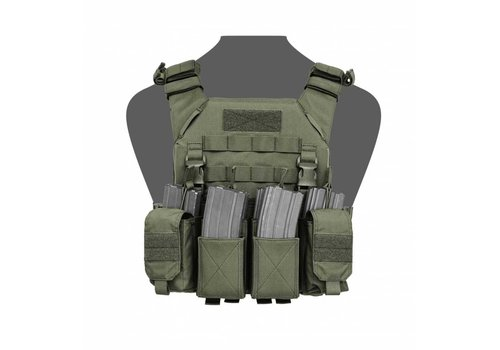 Warrior Recon Plate Carrier w Pathfinder Chestrig - Olive Drab