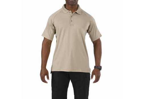 5.11 Tactical Performance Short Sleeve Polo - Silver Tan