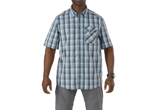 5.11 Tactical Single Flex Covert Short Sleeve Shirt - Tar Heel