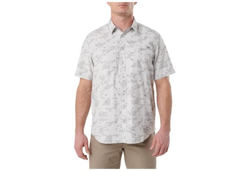 5.11 Tactical Crestline Camo Short Sleeve Shirt - Pebble
