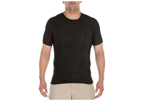 5.11 Tactical Tight Crew Short Sleeve Shirt - Black