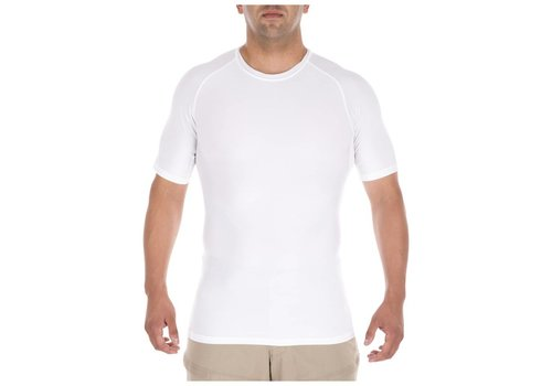 5.11 Tactical Tight Crew Short Sleeve Shirt - White