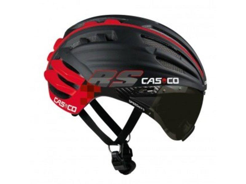 Casco SPEEDairo RS mit Visier schwarz-rot