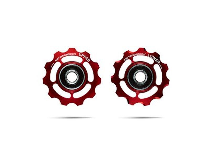 ceramicspeed Schaltungsrädchen, Shimano 11-fach, Alu, rot