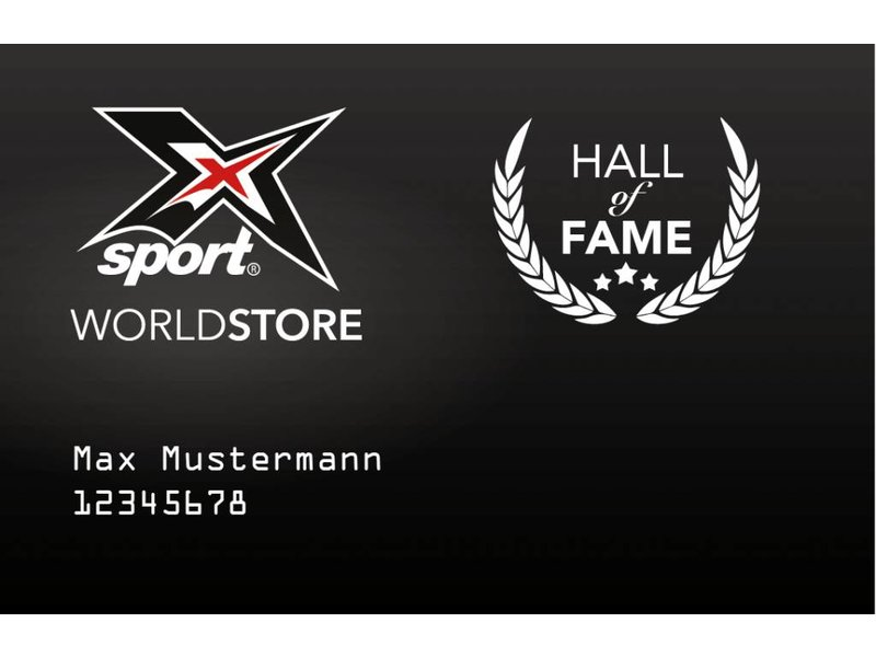 "X-SPORT® WORLDSTORE ""HALL of FAME"" Card"