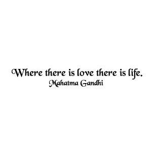 Wandtattoo Wo Liebe ist, da ist Leben