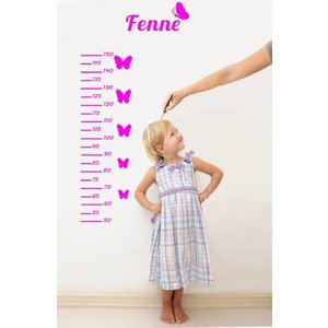 Wall Decal Ruler for kids - with your own NAME