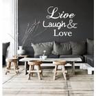 Live Laugh Love Wandtattoo