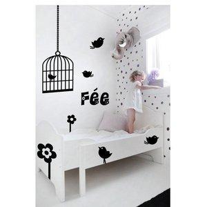 Wall Sticker Birds Birdcage