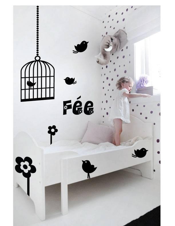 wall sticker birds birdcage walldesign56 wall decals