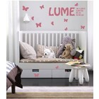 Wall Sticker Decal Butterfly with Name & Birth Birth data