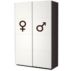 Wall Decal Man Woman Symbol