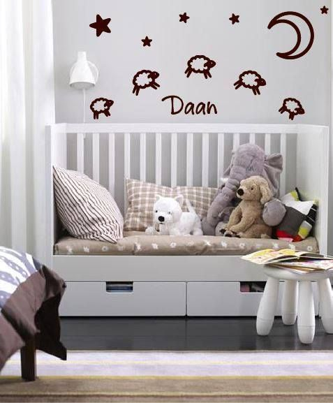 wandtattoo aufkleber geburt baby schaf walldesign56. Black Bedroom Furniture Sets. Home Design Ideas