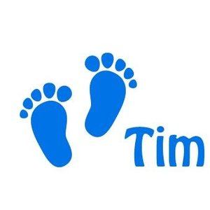 Fenster-Abziehbild-Aufkleber Baby Feet Geburt