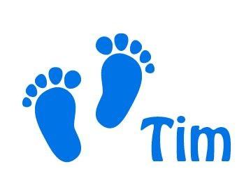 Window Decal Sticker Baby Feet Birth Walldesign56 Wall