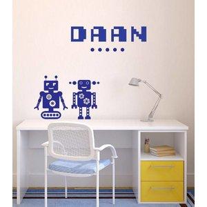 Wandsticker Robot - mit Ihrem eigenen Namen