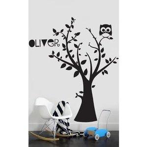 wandtattoo baum mit ihrem eigenen namen 3 walldesign56 wandtattoos fototapete poster. Black Bedroom Furniture Sets. Home Design Ideas