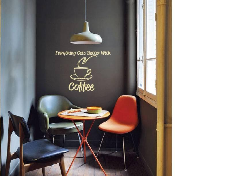 Muurstickers Keuken Koffie : Muursticker Koffie – Walldesign56 – Muurstickers