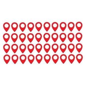 Wandaufkleber Weltkarte Pin Points