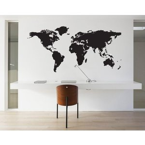 Wall Decal World Map Pin Points