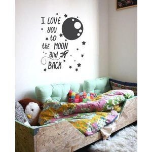 Wall Decal I love you to the moon and back