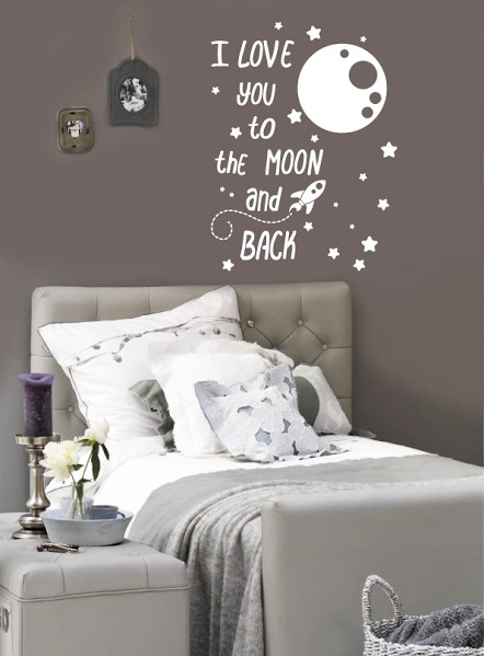 Wall Decal I Love You To The Moon And Back Walldesign56
