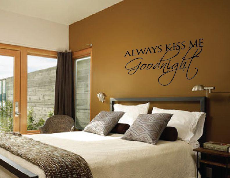 wandtattoo kiss me immer gute nacht walldesign56. Black Bedroom Furniture Sets. Home Design Ideas
