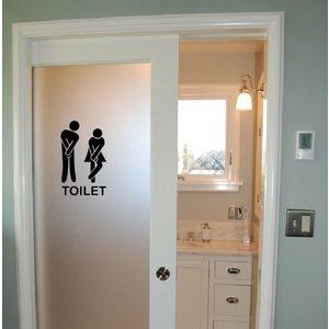 Wall Sticker Toilet