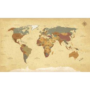 Mural Vintage Weltkarten