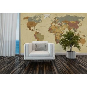 Mural Vintage World Map