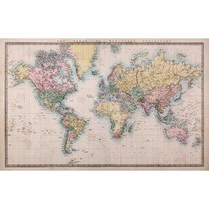 Fotobehang Wereldkaart Vintage 2