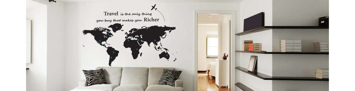 World Map pinpoints