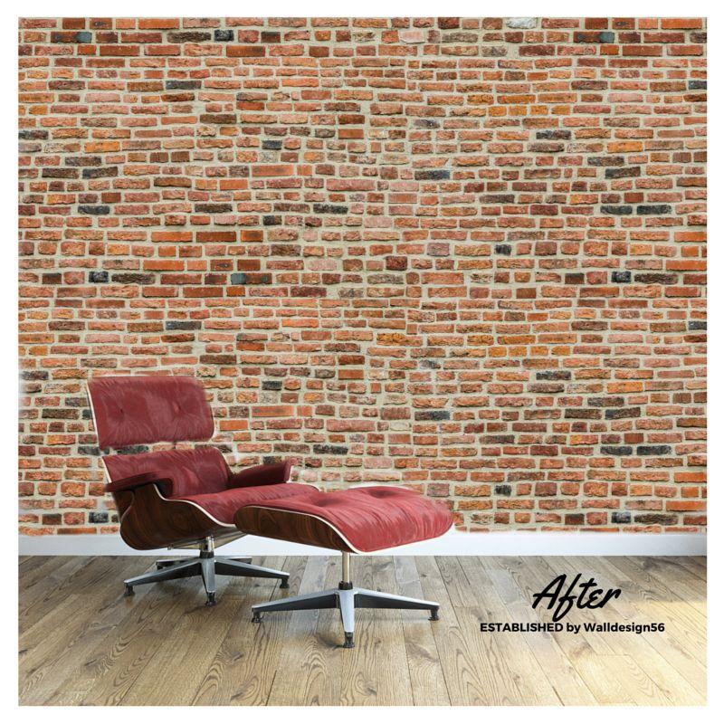 Selbstklebende Tapete Ziegel : Foto Wall stones – mittelalterlichen Brick Entwurf – Walldesign56