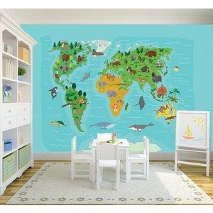 mural weltkarte f r kinder walldesign56 wandtattoos fototapete poster. Black Bedroom Furniture Sets. Home Design Ideas