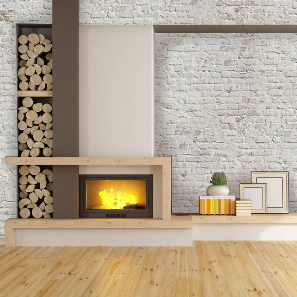 fotobehang stenen baksteen wit retro design. Black Bedroom Furniture Sets. Home Design Ideas