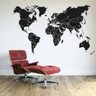 Wall Decal World map with borders