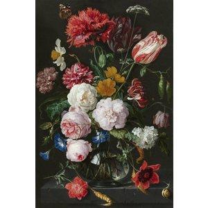 Mural Stillleben mit Blumen in einer Glasvase - Jan Davidsz de Heem
