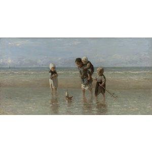 Fotobehang Kinderen der zee